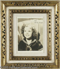 Movie/TV Memorabilia:Photos Signed, Shirley Temple Signed Photograph. It's debatable whether or not curly-haired Shirley Temple was the most talented child star...