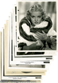 "Movie/TV Memorabilia:Photos Signed, Vintage Hollywood Actress Signed Photos Group. Included in thisgroup lot are black-and-white 8"" x 10"" photos signed by Clai... (9)"