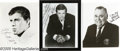 "Movie/TV Memorabilia:Photos Signed, Robert Wagner, Jerry Lewis, and Jonathan Winters Signed Photos Group. Three black-and-white 8"" x 10"" photos, signed by Wagne..."