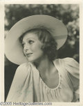 "Movie/TV Memorabilia:Photos Signed, Loretta Young Signed Photo. A black-and-white 11"" x 14"" photo of the popular leading lady of the '30s and '40s (""Kentucky,"" ... (1 )"