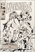 Original Comic Art:Miscellaneous, Sal Buscema and Sam Grainger Avengers #69 Cover StatProduction Art (Marvel, 1969)....