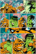 Original Comic Art:Panel Pages, Bernie Wrightson Marvel Graphic Novel: The Big ChangeIncredible Hulk and Thing Page 18 Original Art (Marvel, 1987...