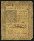 Colonial Notes:Delaware, Delaware January 1, 1776 18d Very Good-Fine.. ...