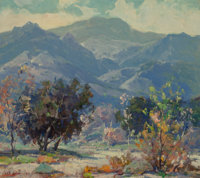Jack Wilkinson Smith (American, 1873-1949) Distant Mountains Oil on canvas laid on board 14 x 16