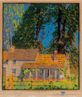 Fine Art - Work on Paper:Print, Gustave Baumann (German/American, 1881-1971). SummerBreezes, circa 1916. Woodblock in colors on paper. 11 x 10inches (...