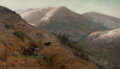 Fine Art - Painting, American, Thaddeus Welch (American, 1844-1919). Grazing, Marin County,1902. Oil on canvas. 22 x 38 inches (55.9 x 96.5 cm). Signe...