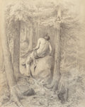 Fine Art - Work on Paper, William Holbrook Beard (American, 1824-1900). On the Watch, 1870. Charcoal on paper. 45-1/4 x 34-3/4 inches (114.9 x 88....