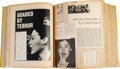 """Movie/TV Memorabilia:Memorabilia, Ava Gardner 1950s Scrapbook. Titled """"Clippings of the 1950s,"""" this large scrapbook features approximately 250 pages of newsp..."""
