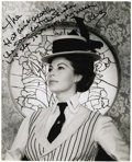 "Movie/TV Memorabilia:Autographs and Signed Items, Ava Gardner Signed Picture to Sister. A great b&w 8"" x 10"" photo of Gardner in 55 Days at Peking, inscribed ""The hat ain..."