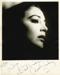 Movie/TV Memorabilia:Autographs and Signed Items, Ava Gardner Signed Photo. A stunning portrait of Gardner enshroudedby shadows, signed by her in black ink. In Very Fine to ...
