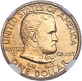 Commemorative Gold, 1922 G$1 Grant Gold Dollar, No Star, MS67 NGC....