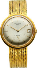 Timepieces:Wristwatch, Patek Philippe Ref. 3445 Fine Yellow Gold Automatic With Date ForGubelin, circa 1960's. ...