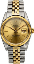 Timepieces:Wristwatch, Rolex Ref. 16000 Steel & Gold Datejust, circa 1977. ...