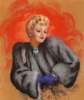 Mainstream Illustration, Billy De Vorss (American, 1908-1985). Betty Grable in Fur.Pastel on board. 26.5 x 22.5 in. (sight). Signed lower right...