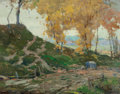 Fine Art - Painting, American, Chauncey Foster Ryder (American, 1868-1949). MontgomeryRoad. Oil on canvas. 28 x 36 inches (71.1 x 91.4 cm). Signedlow...