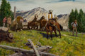 Fine Art - Painting, American, Donald Teague (American, 1897-1991). The Formidable Sierra,1969. Oil on panel. 28 x 40 inches (71.1 x 101.6 cm). Signed...