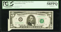 Error Notes:Attached Tabs, Fr. 1973-K* $5 1974 Federal Reserve Note. PCGS Choice About New58PPQ.. ...