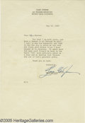 "Memorabilia:Miscellaneous, Gary Cooper SIgned Letter. The movies' archetypal ""strong, silenttype,"" Gary Cooper rose to fame in such movies as ""High N..."