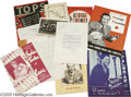 Movie/TV Memorabilia:Autographs and Signed Items, Club Programs Archive. This lot includes a typewritten letter dated December 27, 1935 and signed by Bing Crosby; a handwritt...