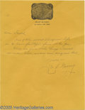 "Movie/TV Memorabilia:Documents, Leo Gorcey Signed Letter. Handwritten letter on personalstationery, undated, reading ""Dear Gareth, One of the nicestthings..."
