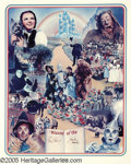 """Movie/TV Memorabilia:Autographs and Signed Items, Jack Haley and Ray Bolger Signed """"Wizard of Oz"""" Poster (1977). A24"""" x 30"""" lithograph, number 1,602 in a limited series of ..."""