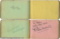 Movie/TV Memorabilia:Autographs and Signed Items, Autograph Books Group Lot. Featured here are four vintage autographnotebooks featuring such signatures as Fletcher Henderso... (4Items)