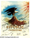 "Movie/TV Memorabilia:Posters Signed, Stars of Republic Pictures Signed Poster (1977). A 24"" x 30""lithograph, number 816 in a limited series of 1,200, signed by ..."