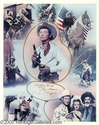 "Roy Rogers -- King of the Cowboys Signed Poster (1977). A 24"" x 30"" lithograph, number 962 in a limited series..."