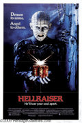 Movie/TV Memorabilia:Autographs and Signed Items, Clive Barker Signed Hellraiser Poster. For the theatrical release of the cult-classic horror film, signed by writer-director...