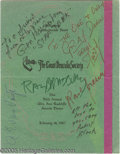 Hollywood Memorabilia:Autographs and Signed Items, Count Dracula Society Signed Program. Featured here is a programfor the Count Dracula Society's Fifth Annual Ann Radcliffe ...