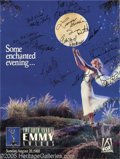 """Movie/TV Memorabilia:Autographs and Signed Items, Emmy Poster -- Autographed. A 18"""" x 25"""" poster advertising the 40th Annual Emmy Awards (televised on August 28, 1988), signe... (1 )"""