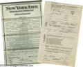 Movie/TV Memorabilia:Documents, D. W. Griffith Insurance Policy Signed by Lillian Gish. Silent-eraactress Lillian Gish got her first big break from directo... (1 )