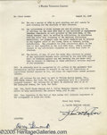 Movie/TV Memorabilia:Documents, Oscar Levant Signed Agreement. Seven-page document on J. WalterThompson Company letterhead, dated August 12, 1947 and signe...