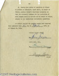 Movie/TV Memorabilia:Documents, Irving Brecher and Gummo Marx Signed Document. A five-page agreement dated January 14, 1944 and signed by Gummo Marx and scr... (1 )