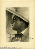 "Movie/TV Memorabilia:Autographs and Signed Items, Tom Mix Autographed Reception Menu In French! A 7"" x 9"" menu from areception honoring the silent era-Western star, dated Ap..."