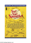 """Movie/TV Memorabilia:Autographs and Signed Items, """"Yes! Yes! Nanette!"""" Signed Poster. A 14"""" x 22"""" poster from the October 2, 2000 tribute to actress Nanette Fabray, signed by... (1 )"""