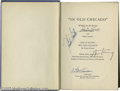 """Movie/TV Memorabilia:Autographs and Signed Items, """"In Old Chicago"""" Signed Screenplay. This 1937 hardbound edition ofLamar Trotti and Sonya Levien's script for """"In Old Chicag... (1 )"""