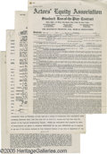 Movie/TV Memorabilia:Documents Signed, Signed Hollywood Contracts Group. This lot of four contracts includes a double-sided, ten-page sponsorship agreement dated A... (1 )