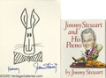 "Movie/TV Memorabilia:Autographs and Signed Items, James Stewart Autograph Lot. Included here is a copy of the 1989 book ""Jimmy Stewart and His Poems"" signed by Stewart in bla... (2 )"