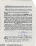 Movie/TV Memorabilia:Documents Signed, Sharon Stone Signed Contract. A three-page, double-sided standard AFTRA agreement, dated February 4, 1986, and signed by act...