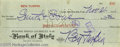 Movie/TV Memorabilia:Autographs and Signed Items, Ben Turpin Signed Check. Personal check dated November 21, 1921,written for the sum of $10.36 and made payable to Smith & S...(1 )