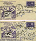 Movie/TV Memorabilia:Autographs and Signed Items, Signed First Day Covers Group. Two separate first day covers, bothdated October 31, 1944, each signed by movie stars of the...