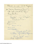Movie/TV Memorabilia:Autographs and Signed Items, Humphrey DeForest Bogart and Mrs. Betty Lauren Bacall HumphreyBogart!! are the signatures found at the top of this Clifton ...