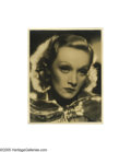 "Movie/TV Memorabilia:Photos Signed, Gorgeous 11"" x 14"" Portrait of Marlene Dietrich Signed ""To Clifton!Marlene"" in green ink. This fabulous large B&W photo..."