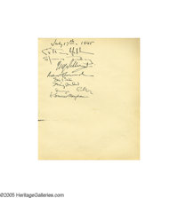 Katharine Hepburn and Spencer Tracy Visit Clifton Webb and sign his guest book on July 17, 1945. This was three years in...
