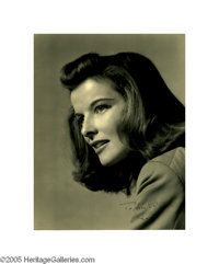 "Beautiful Vandamm Portrait of Katharine Hepburn Signed ""To Dear Clifton- Kate."" Offered here is a real rarity-..."