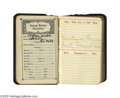 """Movie/TV Memorabilia:Autographs and Signed Items, Clifton Webb's 1930 Pocket Datebook. For an entire year, Webb kepthis appointments, commitments and notes in this 2.5"""" x 4""""..."""