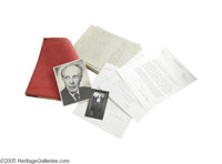 """Ivan Butler """"Dracula"""" Script with Photos and Letters. This lot includes actor Ivan Butler's personal, leather-..."""