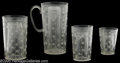 "Movie/TV Memorabilia:Props, Blackstone ""Multim In Parvo"" Pitcher. Featured is a clear plasticpitcher and three plastic glasses in graduated sizes used ..."