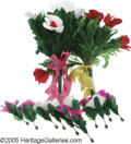 "Movie/TV Memorabilia:Props, Blackstone ""Rebloom Bouquet"" Illusion. Used by Harry BlackstoneSr., this feather bouquet is designed so that when blooms ar..."